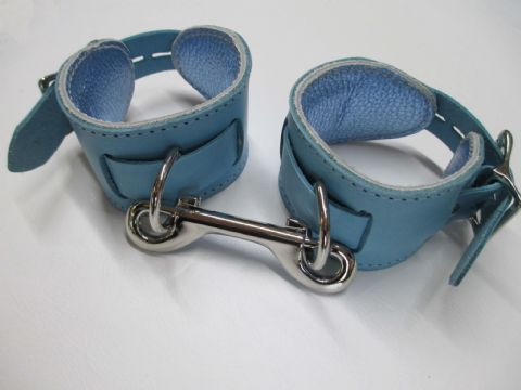 Pair Leather Princess/Prince Locking Restraint Cuff  (2 Cuffs)